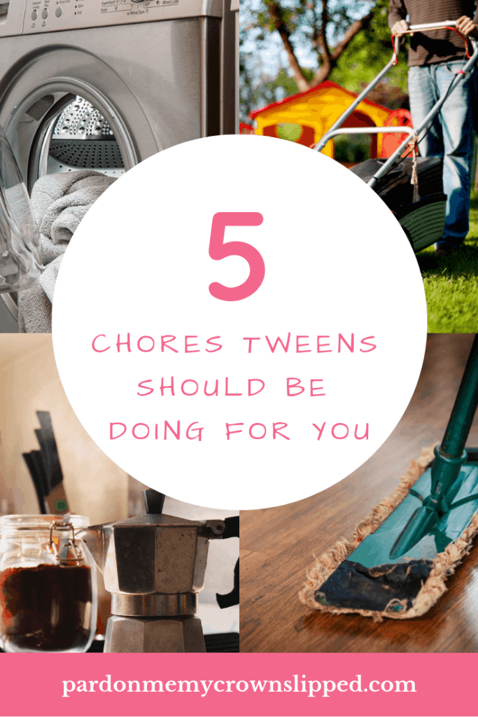 Make your life easier and make you a better mom by teaching your tweens these important chores for valuable skills that last a lifetime. #parenting #chores
