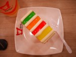 Day 8 - Rainbow slice cake!