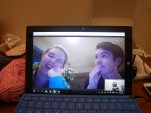 Day 46 - Skyping these two nutters!