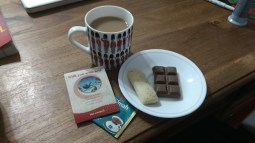 Day 188 - Tea, biscuit and chocolate from home for a lil nighttime snack!