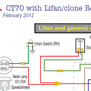 Honda CT70 Lifan & Clone Engine 12 Volt Wiring Diagram