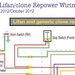 Honda CT70 Lifan &Clone Wiring Diagram wElectric Starter