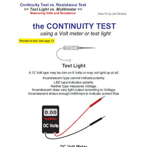 The Continuity Test