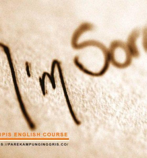 Ini Perbedaan Kata Sorry, Apologize, Forgive