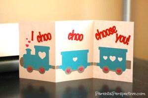 Choo Choo Train Valentine's Day Card