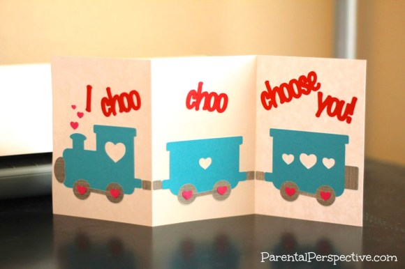 Choo Choo Train Valentine's Day Card | Parental Perspective