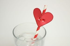 Heart Shaped Straw Topper