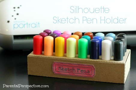 Silhouette Sketch Pen Holder | Parental Perspective