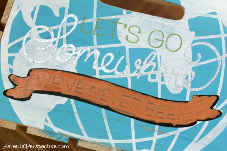 A tutorial for stenciling plain wooden crates | Parental Perspective