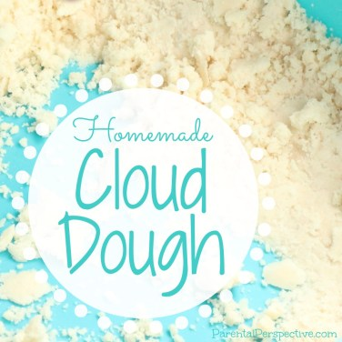 Super simple homemade cloud dough kids/toodler activity | Parental Perspective