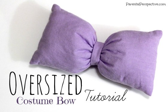 Step by step instructions for sewing a bow to go with your Halloween costume