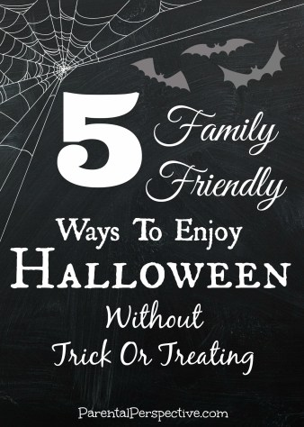 Have fun with the kids on Halloween without going trick or treating! Simple and inexpensive ideas for spending Halloween at home.
