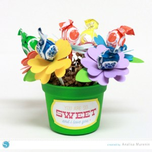 Valentine's Day Flower Pot Lollipops