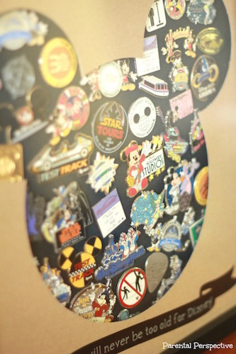 Use a shadow box to display your Disney trading pins!