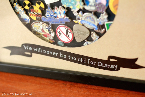 """We will never be too old for Disney!"" Create a special DIY display case for your Disney trading pins!"
