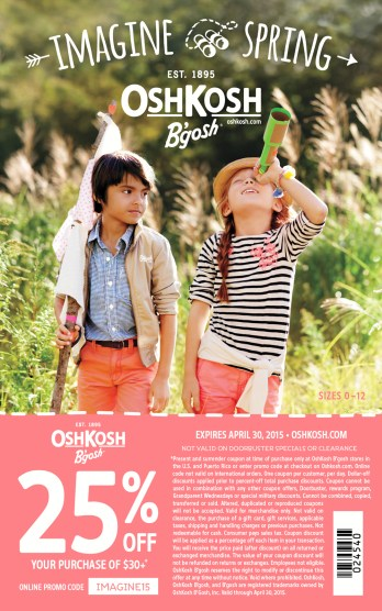 OshKosh B'Gosh Coupon| ParentalPerspective.com | #ImagineSpring #IC #sponsored