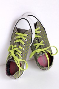 Stenciled Canvas Shoes