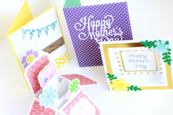 Mother's Day cards created with the Silhouette CAMEO