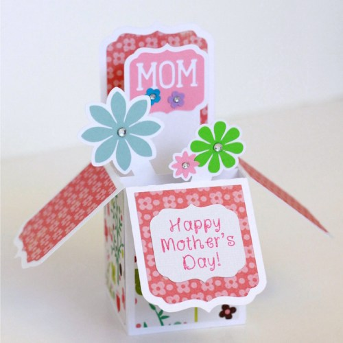 Mother's Day box card created with the Silhouette CAMEO