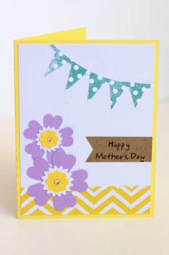 Mother's Day flower card created with the Silhouette CAMEO