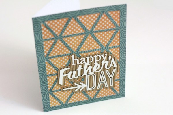 Simple Father's Day card created with the Silhouette CAMEO | ParentalPerspective.com