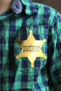 Sheriff Badge Stickers Tutorial