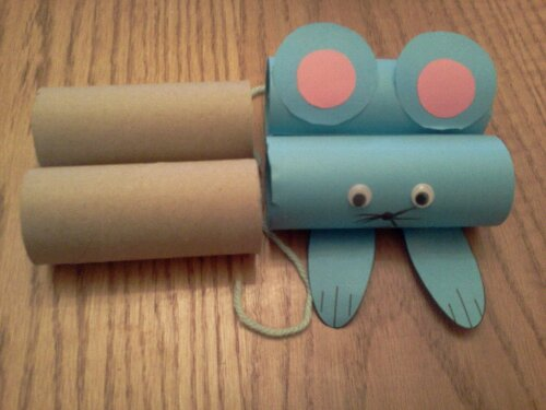 Toilet Paper Craft For Kids Mouse