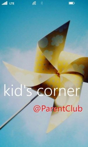 Kid's Corner on Windows Phone