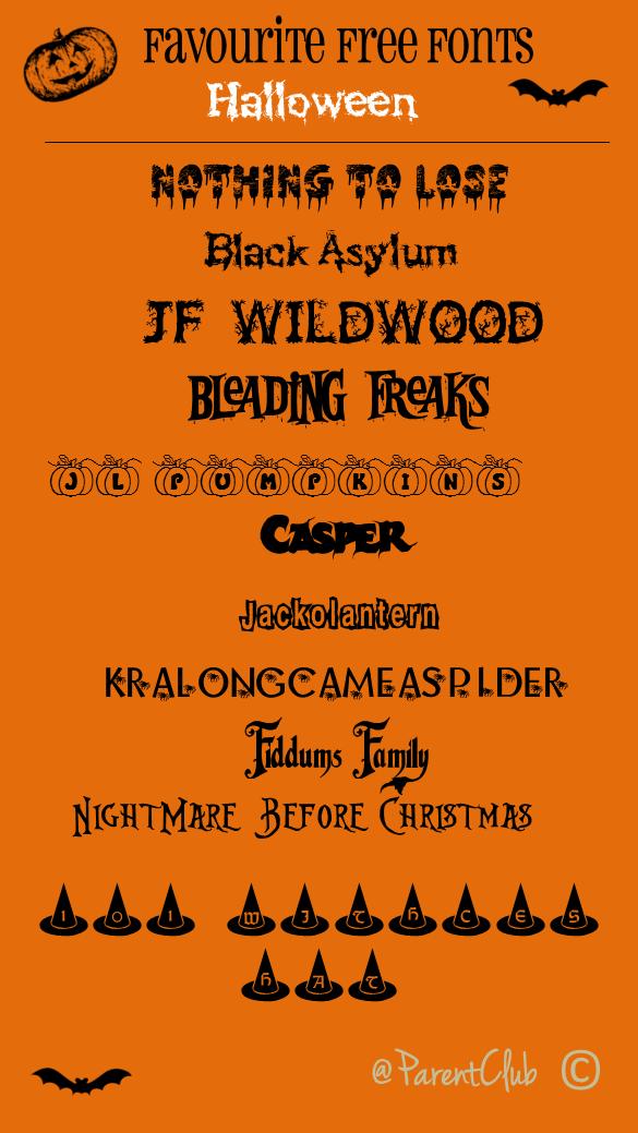 Free Fonts Halloween