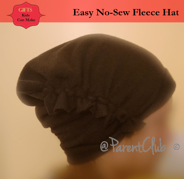 Gifts Kids Can Make - Easy No-Sew Fleece Hat