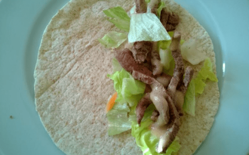 Steak, Tomato, Lettuce Wrap