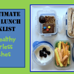 Checklist For Healthy Litterless Lunches