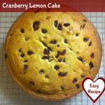 Cranberry Lemon Cake Recipe
