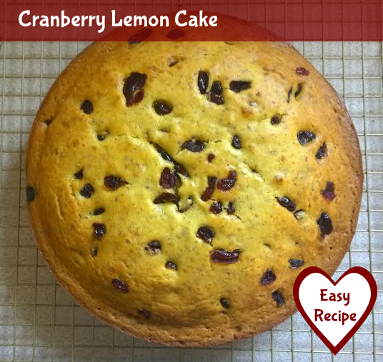 Cranberry Lemon Cake Recipe