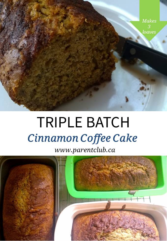 Triple Batch Cinnamon Coffee Cake Recipe