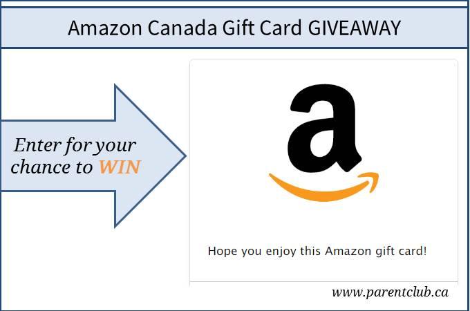 Amazon Canada Gift Card Giveaway via www.parentclub.ca