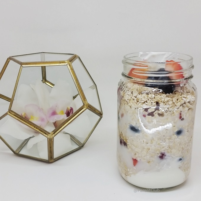 overnight oats via www.parentclub.ca