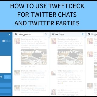 How to use Tweetdeck for Twitter Chats and Twitter Parties via www.parentclub.ca