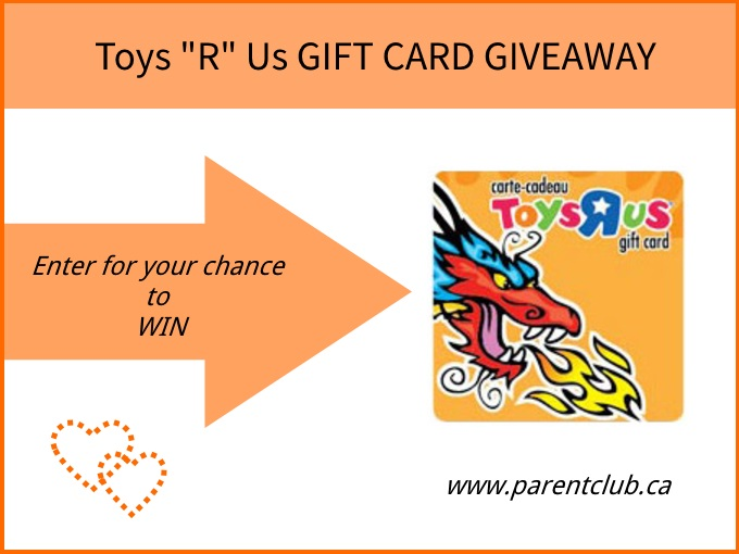 Toys R Us Gift Card Giveaway via www.parentclub.ca