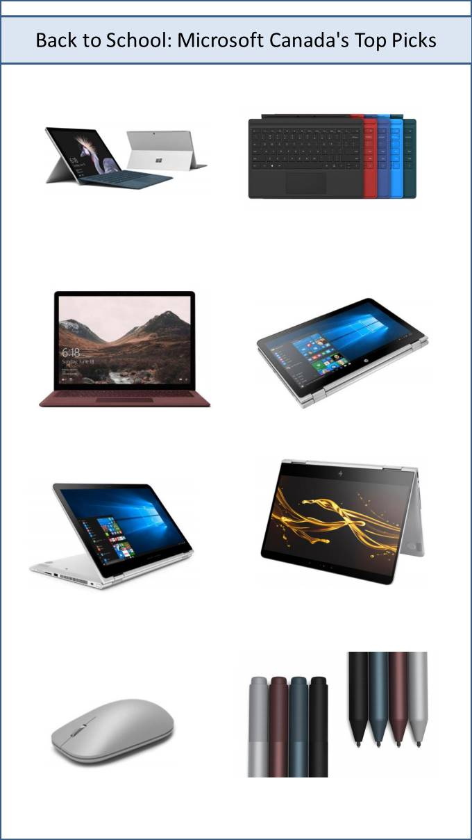 Back to School: Microsoft Canada's Top Picks