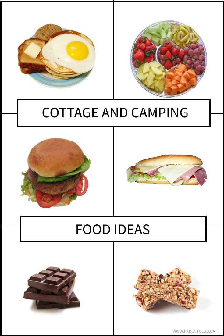 Cottage and Camping Food Ideas via www.parentclub.ca