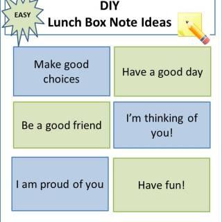 Easy DIY Lunch Box Note Ideas via www.parentclub.ca