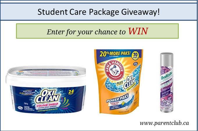 Student Care Package Giveaway viw www.parentclub.ca