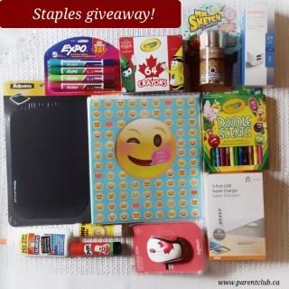 staples giveaway via www.parentclub.ca