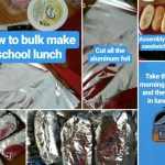 How to make bulk school lunches, make school lunch ahead, make and freeze school lunch via www.parentclub.ca