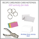 Recipe Card/Index Card Notepad DIY