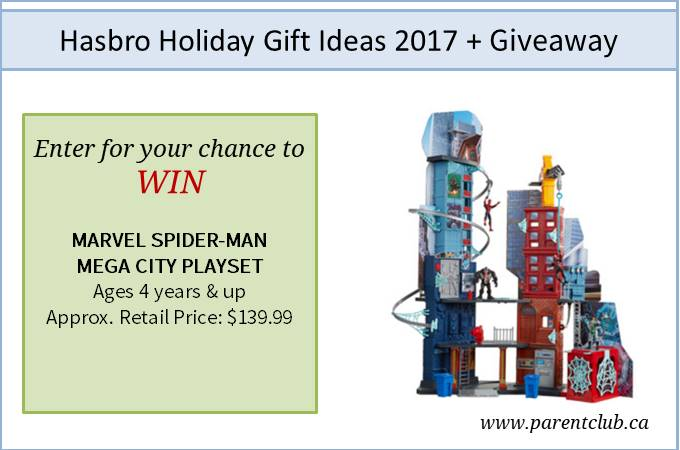 Hasbro Holiday Gift ideas 2017 + giveaway via www.parentclub.ca