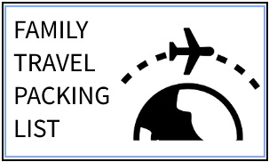 FAMILY TRAVEL PACKING LIST via www.parentclub.ca