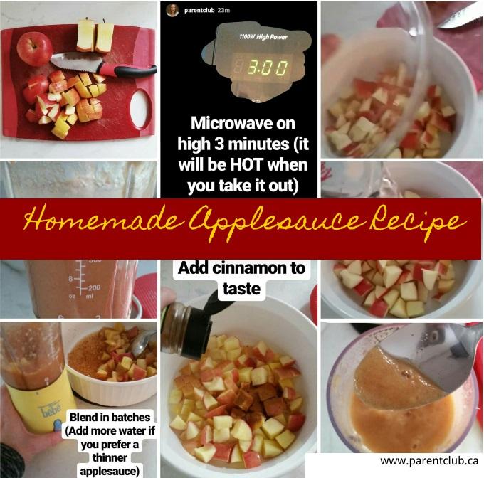 Homemade Applesauce Recipe via www.parentclub.ca