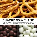 Snacks on a Plane 25 nut-free snack ideas for airplanes via www.parentclub.ca